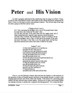 Peter and His Vision